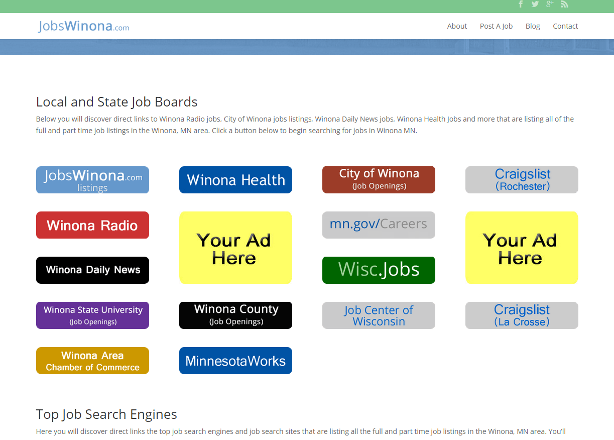 Jobswinona Advertise Here Jobsinwinonamn Com